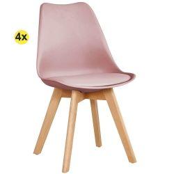 Pack de 4 Cadeiras de Jantar SOFIA II Rosa