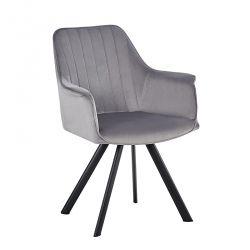 Cadeira de Sala MAFIOSA Cinza (Veludo)