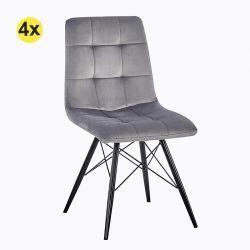 Cadeira de Sala CAROLINA Cinza