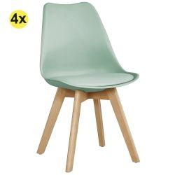 Pack de 4 Cadeiras de Jantar SOFIA II Azul