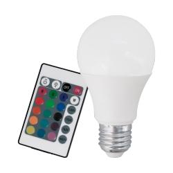 Lâmpada LED E27 Luz RGB 3000K 10107