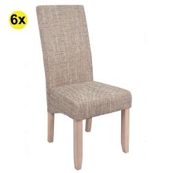 Pack de 4 Cadeiras de Sala DALAS Bege