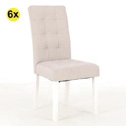 Pack de 4 Cadeiras de Sala FLORIDA Bege