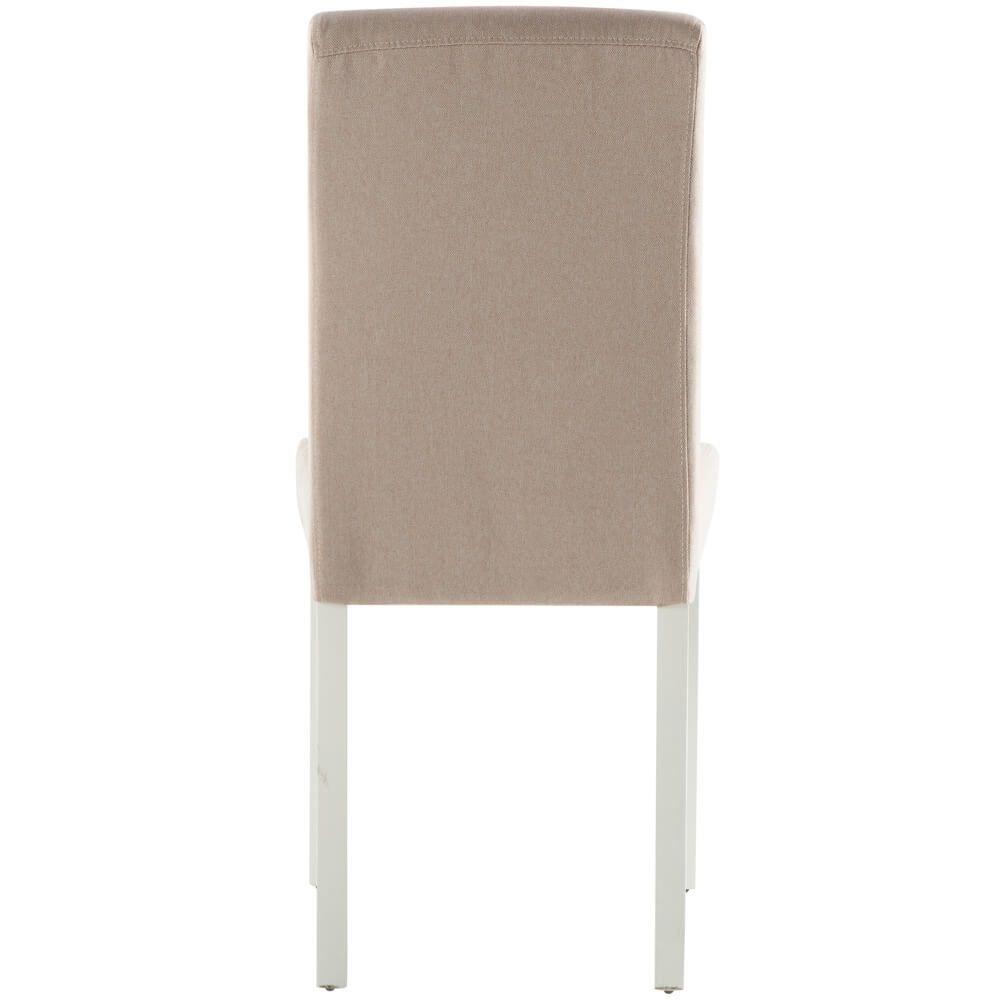 Cadeira de Sala ISABELINHO Bege com pés Brancos
