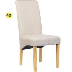 Pack de 4 Cadeiras de Sala ISABEL Bege