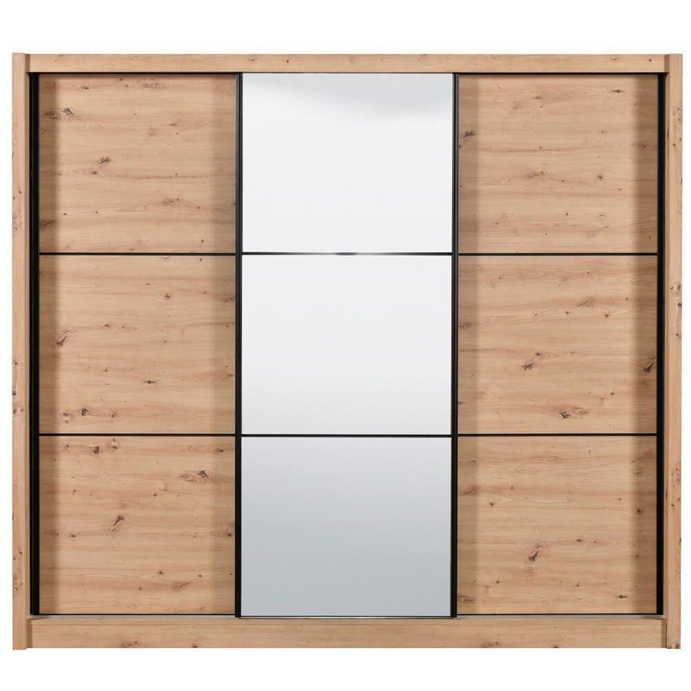 Roupeiro Portas Deslizantes com Espelho NAVARA
