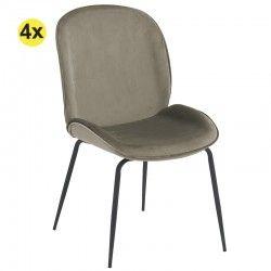 Pack 4 Cadeiras de Sala...