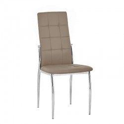 Cadeira de Sala LOGAN Taupe PU