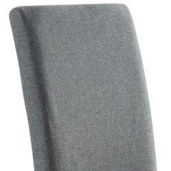 Cadeira de Sala ISABELINHO Cinza com pés Brancos