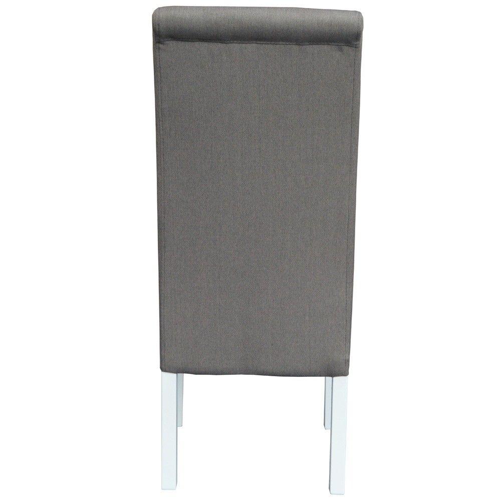 Cadeira de Sala ISABEL Taupe com pés Brancos