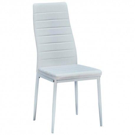 Cadeira de Sala ZARA II Branco (Pele Sintética)