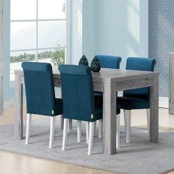 Mesa de Jantar Extensível FLORENÇA (140-230 cm) Cinza Rústico