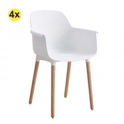 Pack 4 Cadeiras de Sala LOLITA (Branco)