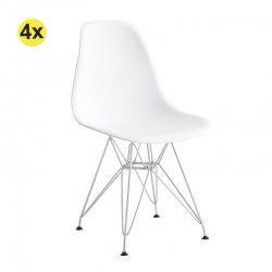Pack de 4 Cadeiras de Sala EIFFEL (Branco)