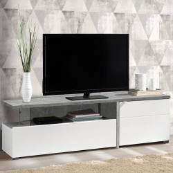 Móvel TV FORTUNA Betão e Branco